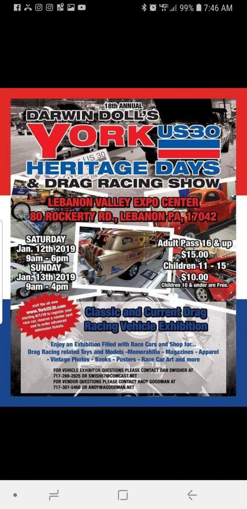 York Nostalgia Car show - Beaver Springs Dragway